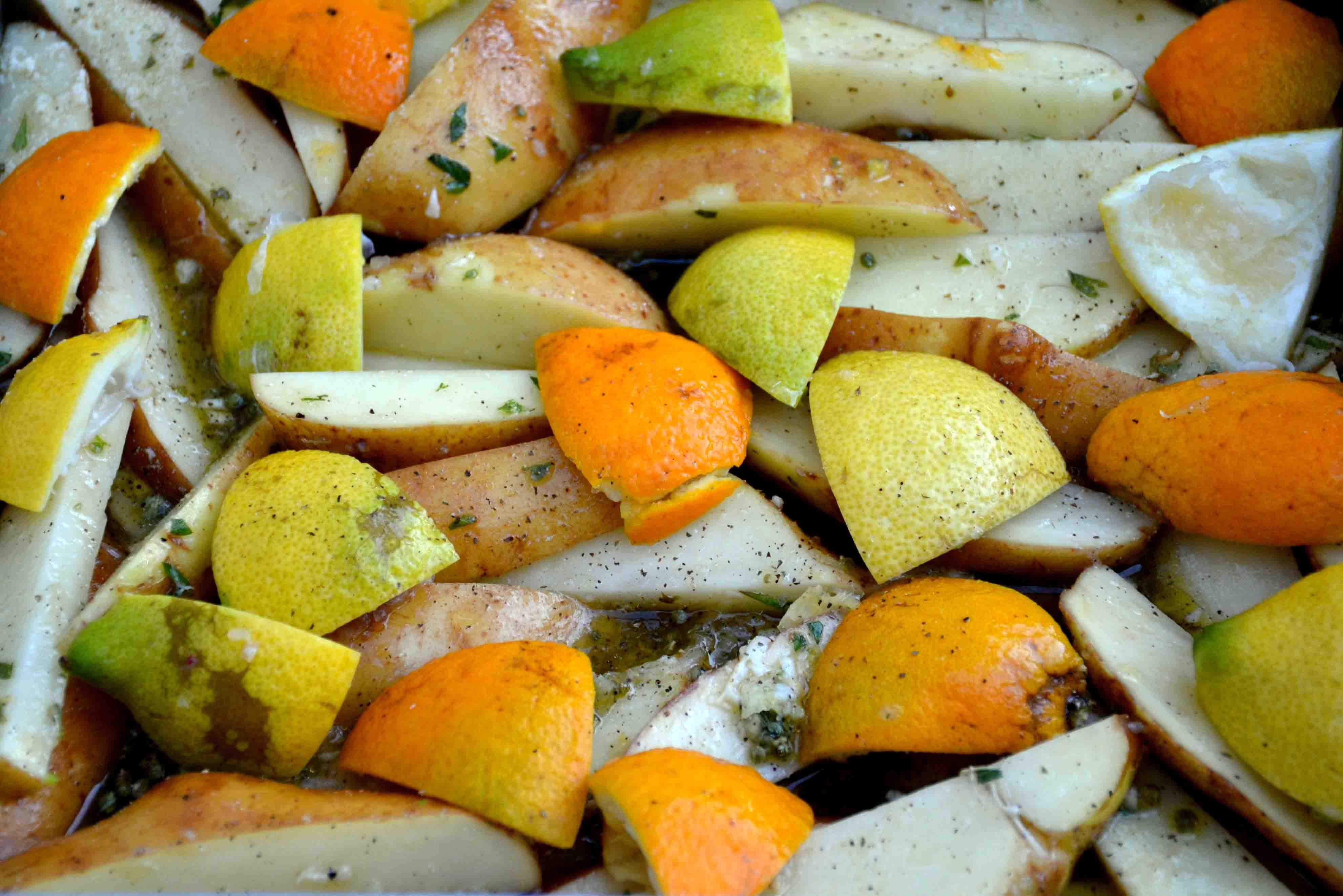 Lemon And Orange Potatoes Katerina S Kouzina Greek Recipes Cooking Salmon Recipes