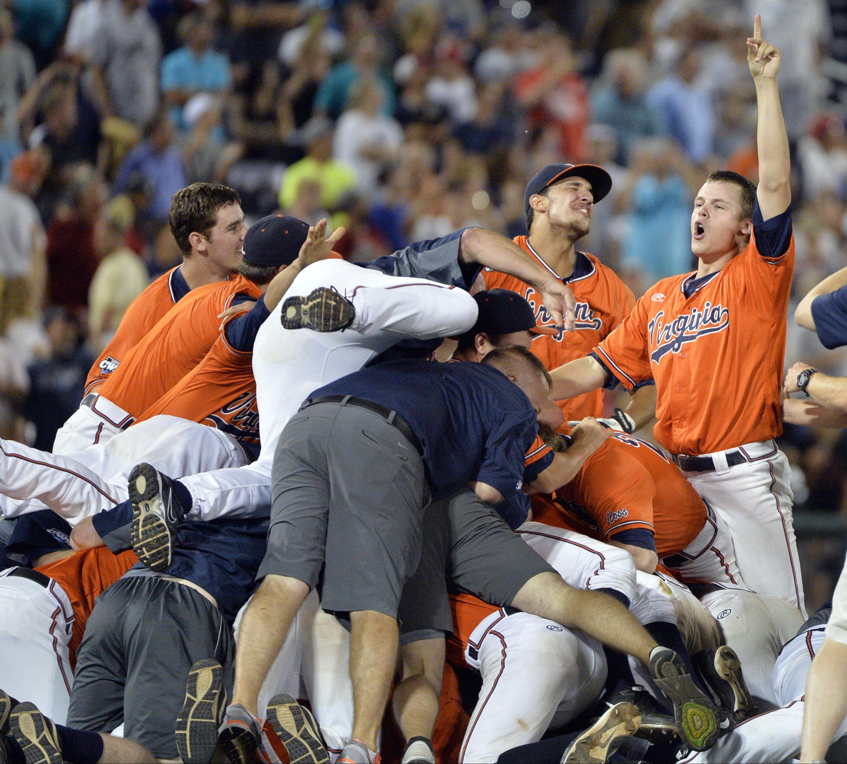Virginia Wins First Ncaa Baseball Championship With Victory Over Vanderbilt Vanderbilt Baseball Vanderbil College Baseball College World Series Baseball Live