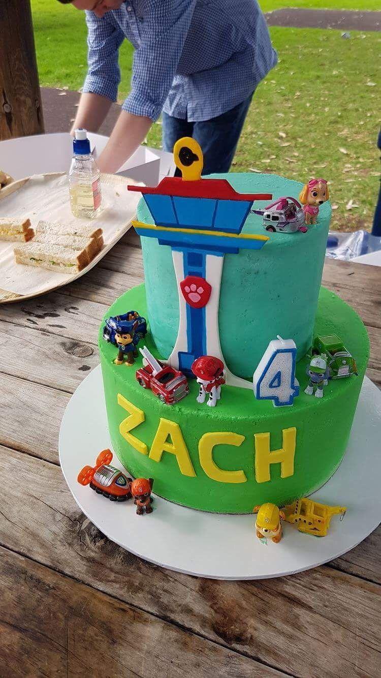 Paw Patrol 4th Birthday Cake