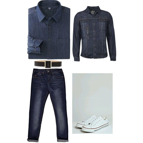 Denim Or Just Natty by nattysupplyco on Polyvore featuring Vince Camuto and Uniqlo