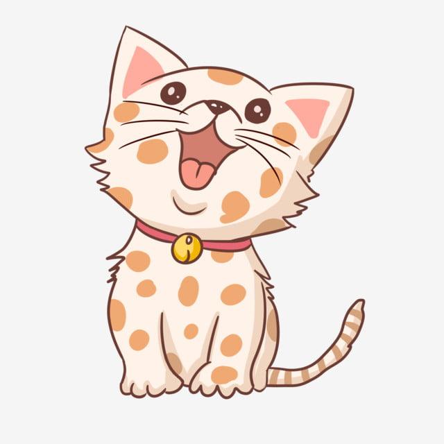 口を開けた猫 かわいい猫 ペットの猫 赤い襟 ペットのクリップアート イエローベル 萌芽ネコ画像とpsd素材ファイルの無料ダウンロード Pngtree かわいい猫 ペットのロゴ ペット 猫