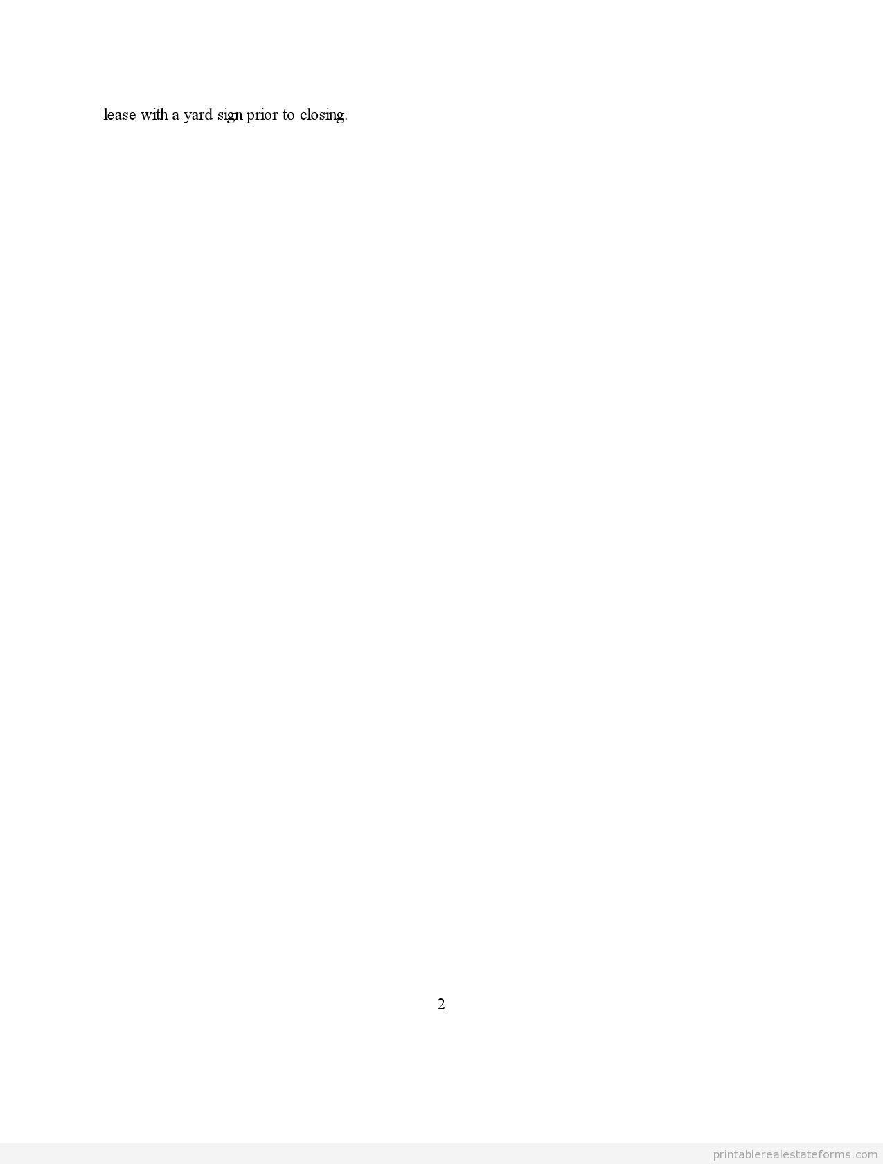 Sample Printable Contractaddendum Form