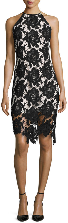 Keepsake True Love Lace Halter Dress, Black  $258 $180