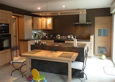 R sultat de recherche d 39 images pour ilot de cuisine avec table quot - Table ilot de cuisine ...