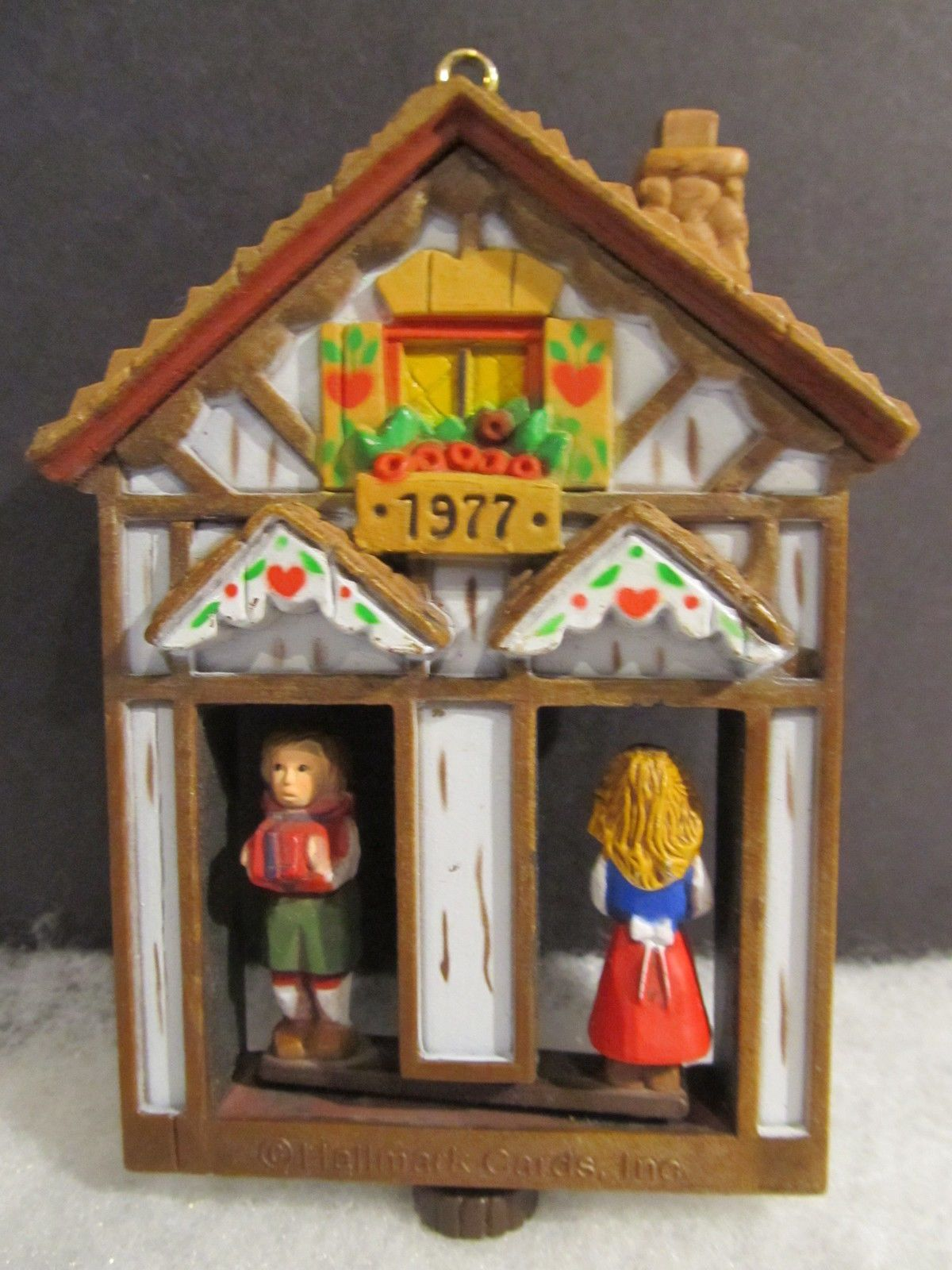 Vintage Hallmark Christmas Weather House Turn About Ornament 1977 ...