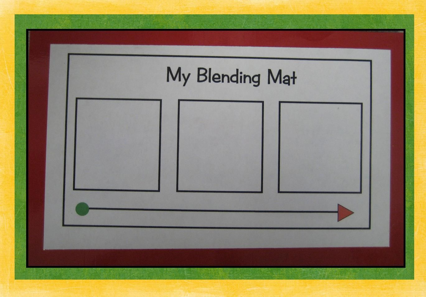 Kindergarten Crayons: Phonics blending mat (meant to be laminated ...