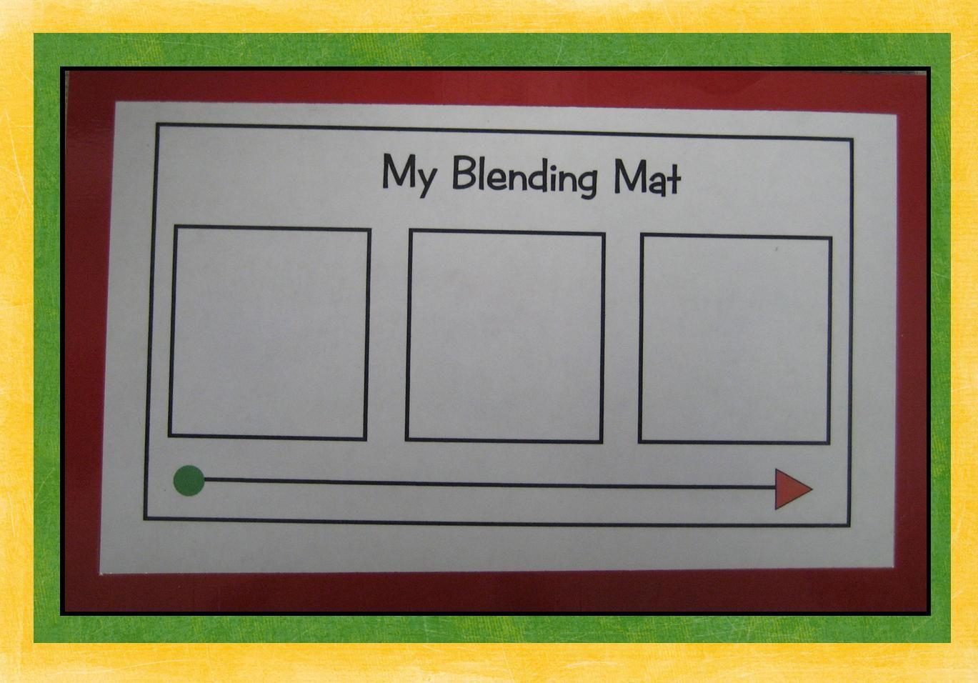 Kindergarten Crayons Phonics Blending Mat Meant To Be