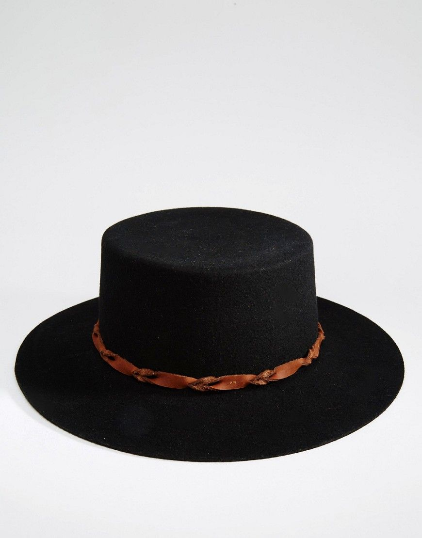 Image 3 of Brixton Matador Felt Hat with Contract Leather Band ... bb93dd4ed3b