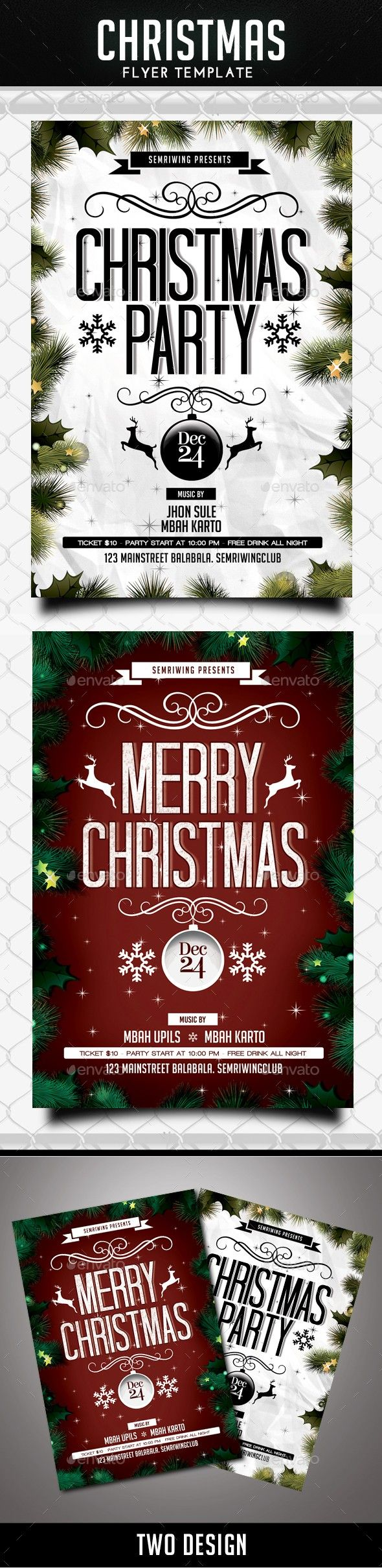 border celebrate celebration christmas christmas flyer christmas party clean december december event deep event flyer holiday new year