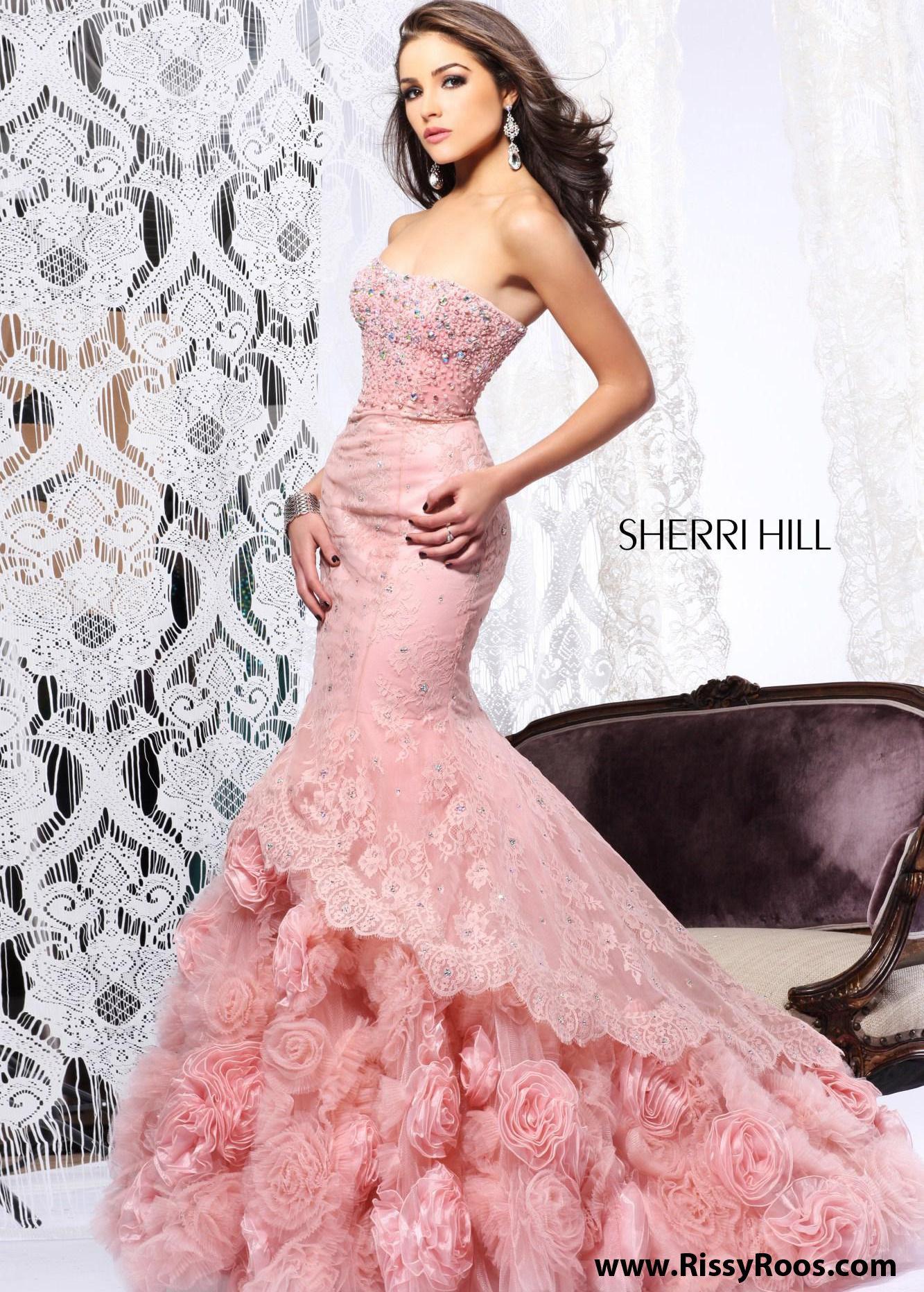 Sherri hill lace wedding dress  Find Sherri Hill  blush strapless lace mermaid dresses