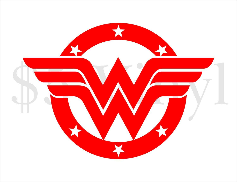 Wonder Woman emblem Vinyl Car Decal, Justice League, Superman, DC, Sticker, Superfriends, Batman, Decal, Window Decal - pinned by pin4etsy.com