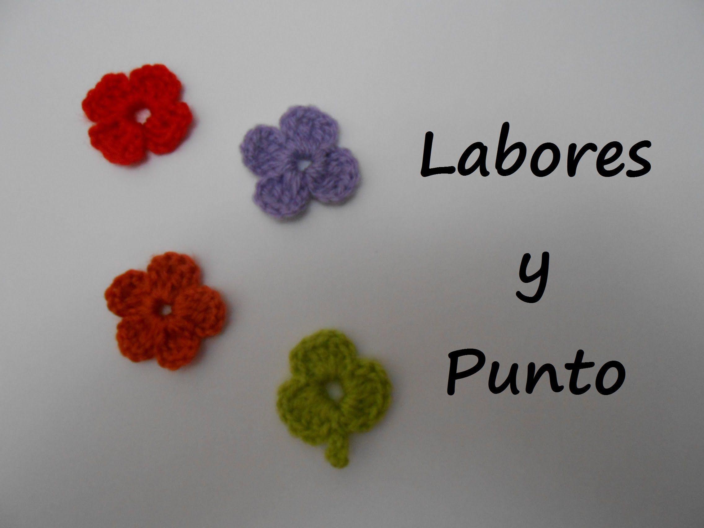 Aprende A Tejer Una Flor Pequena Ganchillo Tejido Pinterest - Como-hacer-una-flor-de-lana