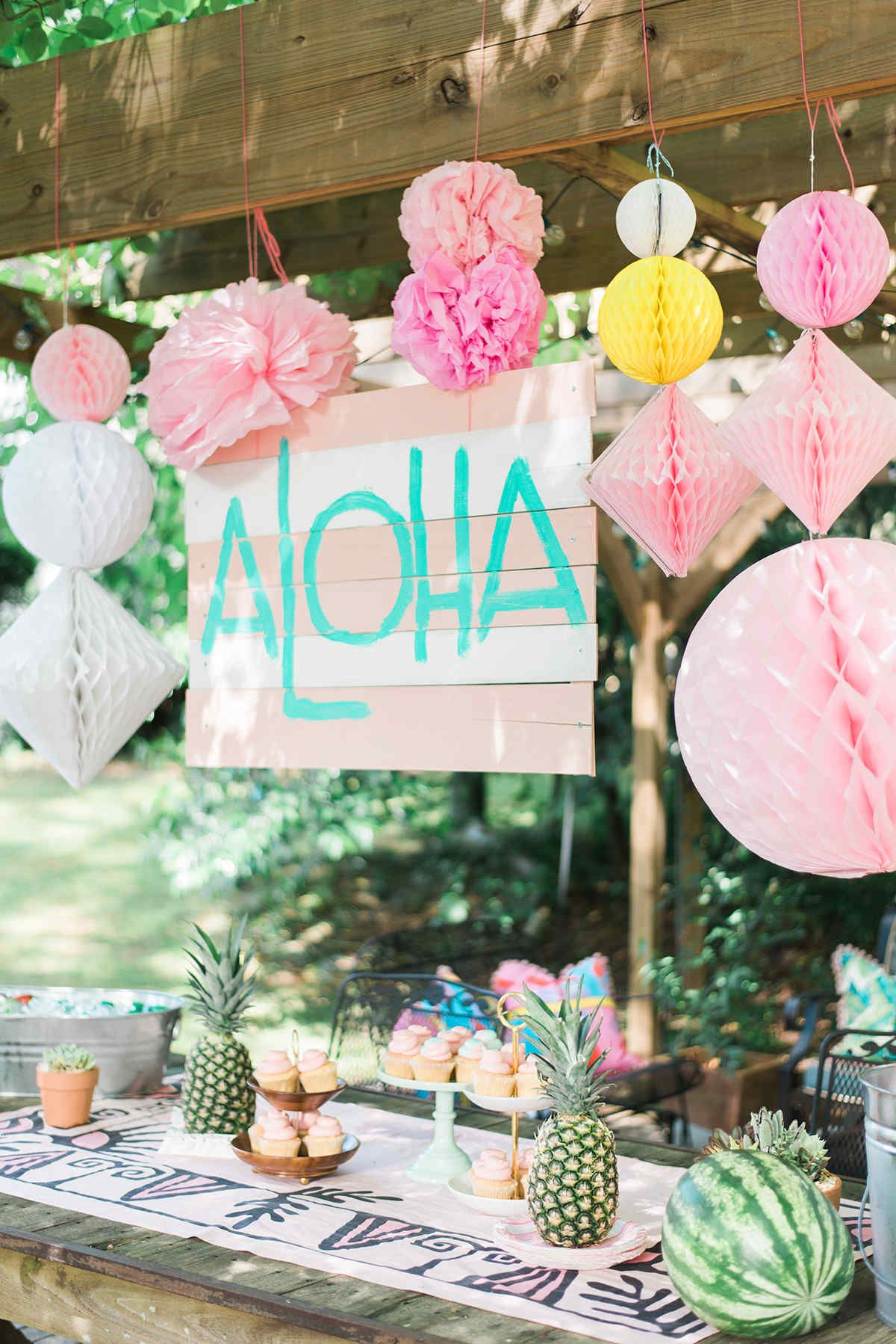 Decoration Hawaienne Pour Fete End Of The Year Luau Party Déco Anniversaire Hawai Fiesta