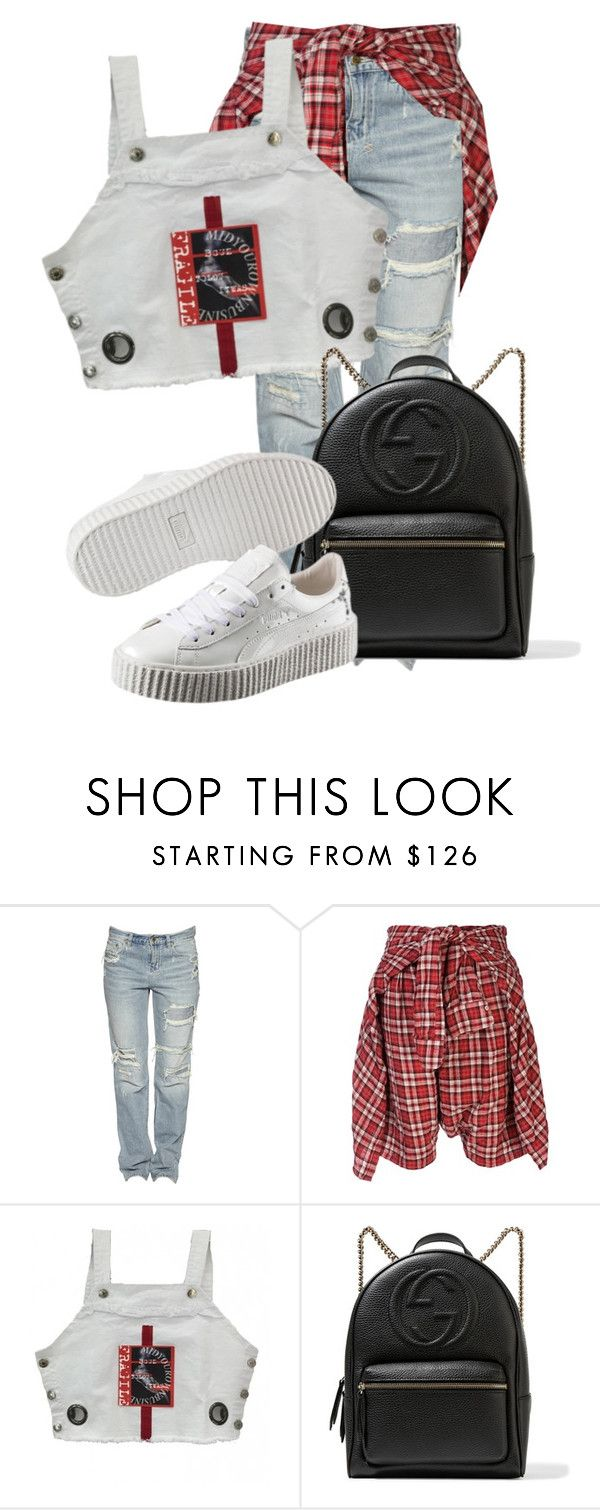 """Untitled #3513"" by xirix ❤ liked on Polyvore featuring R13, Gucci and Puma"