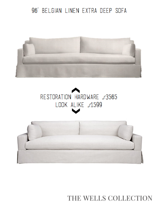 restoration hardware sectional sofa linen craigslist sofas for sale the wells collection looks way less