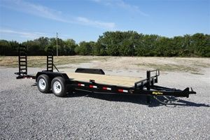 """Big Tex Trailers - 83"""" x 20' Tandem Axle Equipment Trailer with 5 Stand-Up Ramps w/Support Leg and Spare Tire Mount   Model: 14ET-20"""