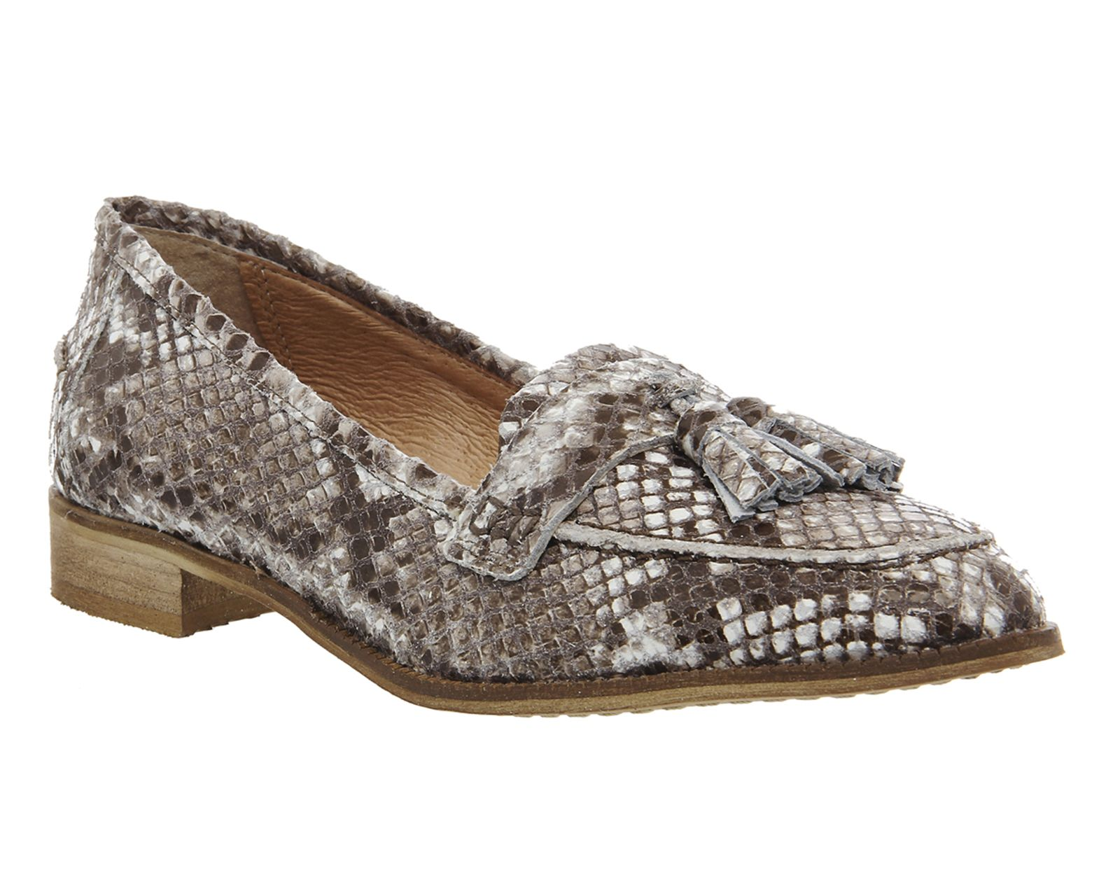 Office Lailah Tassel Loafers Natural Snake Leather - Flats