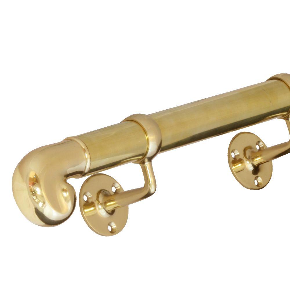 Best 593 Pb Handrail Sets 38Mm Diameter Polished Brass 640 x 480