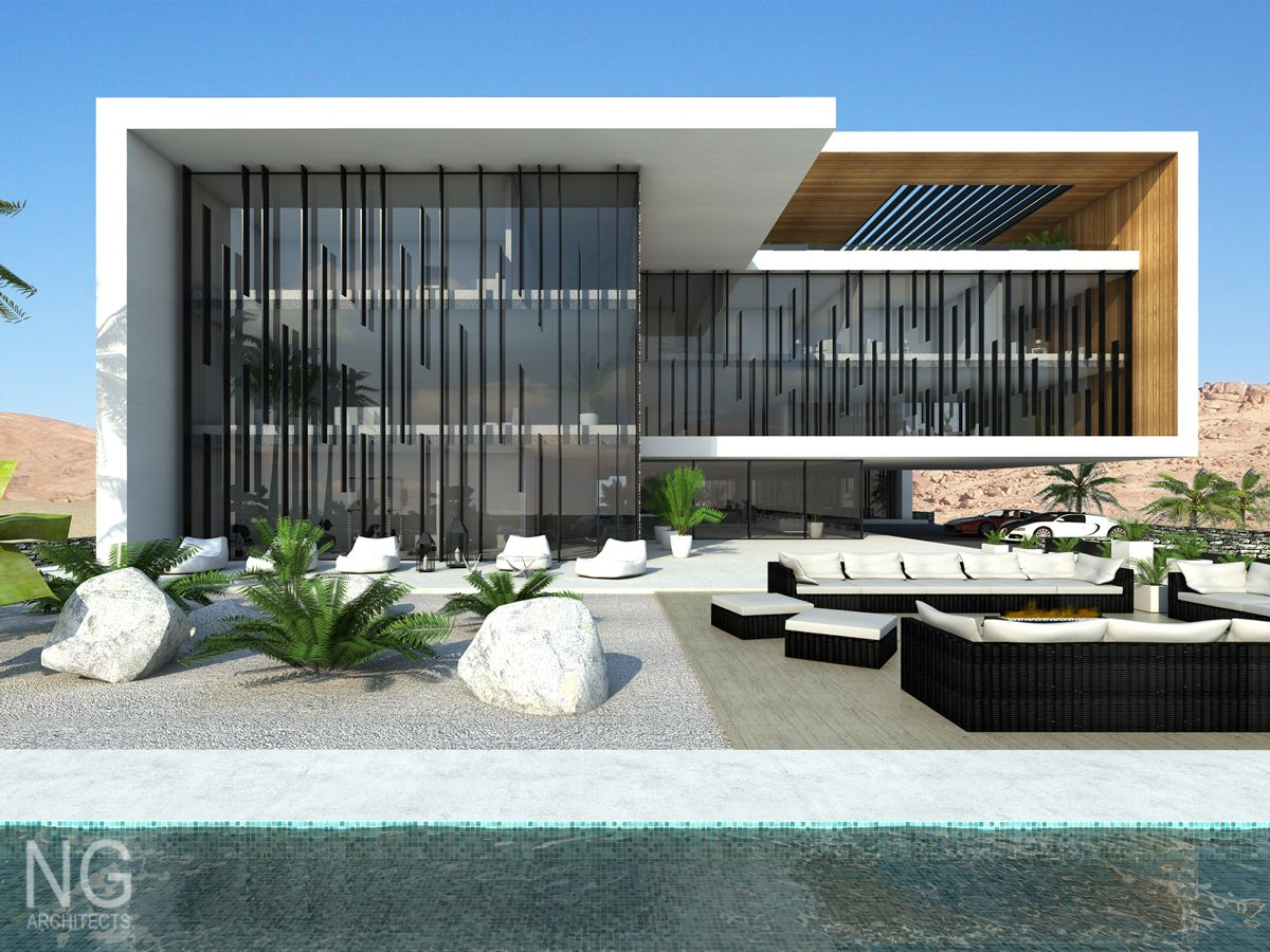 modern luxury 4000 m2 villa in Saudi Arabia by NG architects www ...