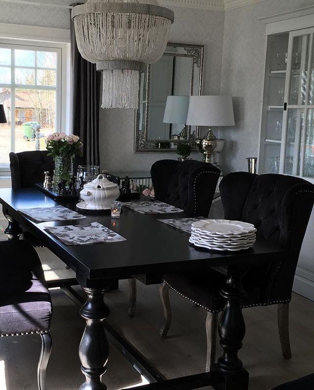 Dubai Grande Spisebord (all black)   Dining table, Black ...