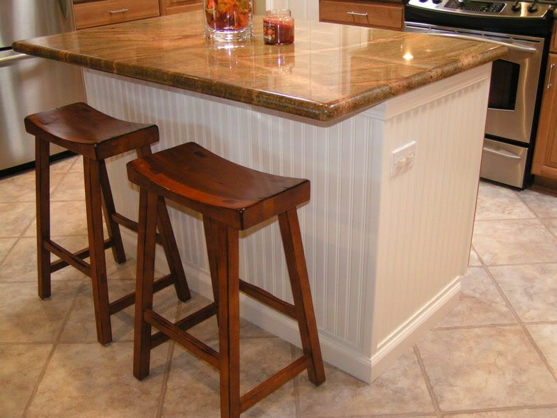 Delightful Wrapping Kitchen Island In Beadboard