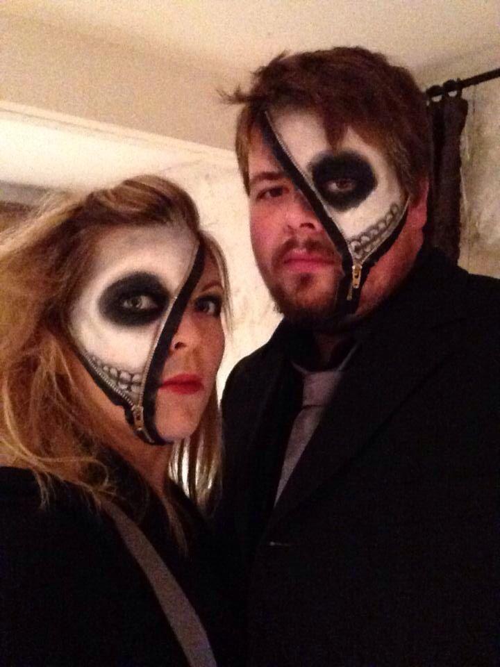 Skeleton zipper face Halloween makeup | Makeup | Pinterest ...