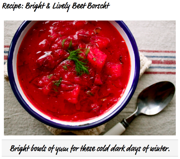 beet soup (otherwise known as borscht) | The HeART