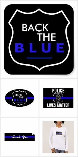THIN BLUE LINE SUPPORT POLICE
