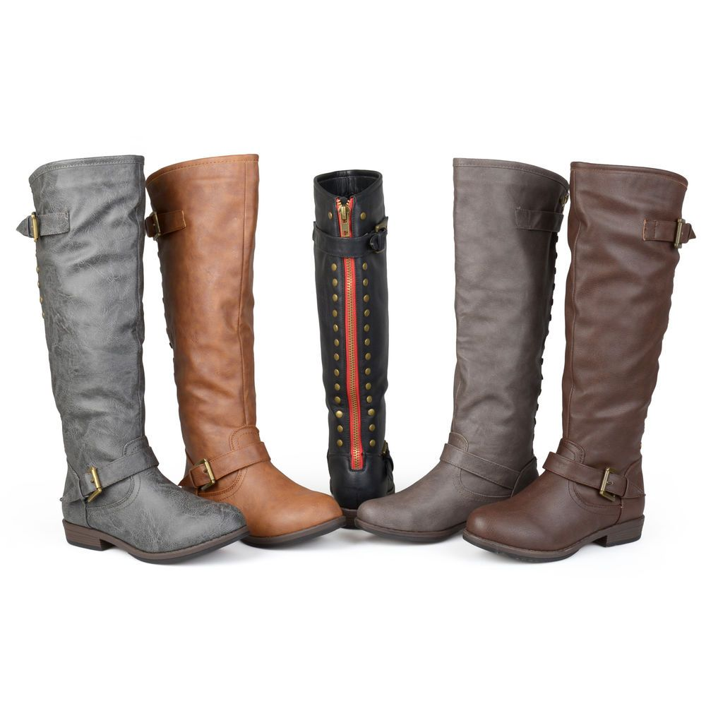 ed013358ab5 Journee Collection Women's Wide and Extra Wide-Calf Studded Knee-High Boots  #JourneeCollection #FashionBoots