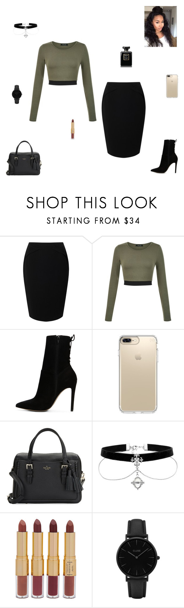 """""""work"""" by synclairel ❤ liked on Polyvore featuring Jacques Vert, ALDO, Speck, Kate Spade, tarte, CLUSE, Chanel, Winter, cute and casual"""