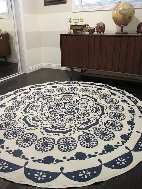 Turning A Table Cloth In To A Rug