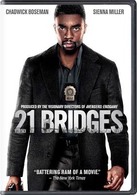 DVD & Bluray 21 BRIDGES Starring Chadwick Boseman in