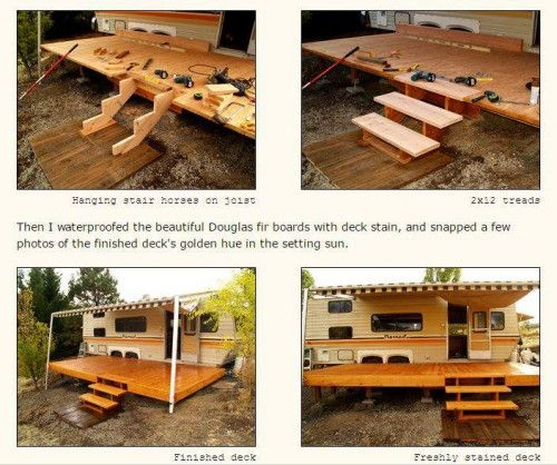 Awesome Rv Deck Design Ideas How To Build A Deck Mobile Home Living Building A Deck Building A Floating Deck Deck Design