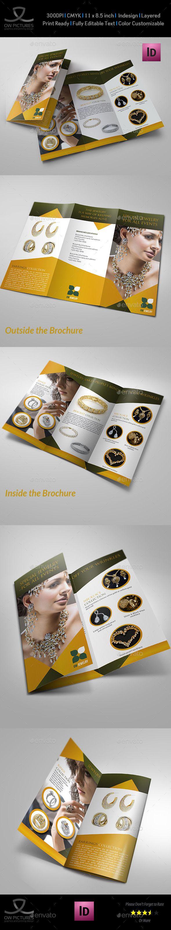 Jewelry and accessories tri fold catalog brochure pinterest tri