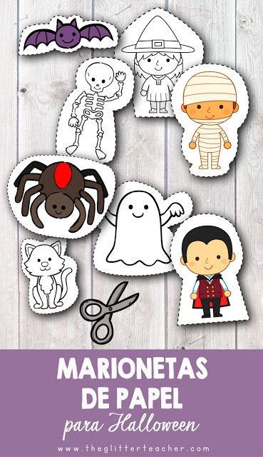 Marionetas imprimibles de papel para colorear y montar con los ...