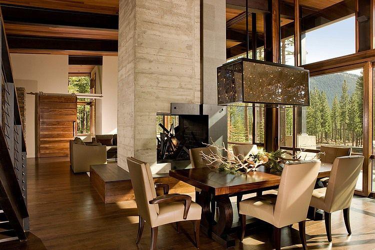 Lake Tahoe Dining Room Set Amazing Fireplacelake Tahoe Residencebethe Cohen Design Inspiration