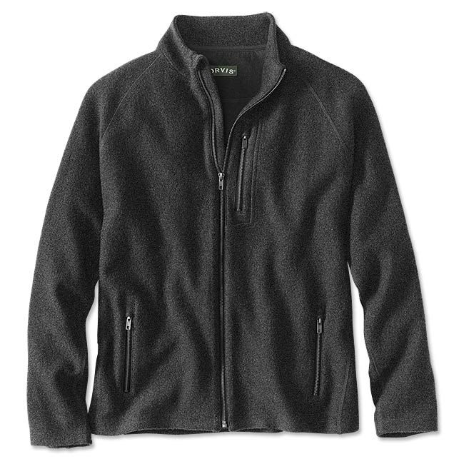Men's Full Zip Boiled Wool Sweater Denton Boiled Wool Full Zip