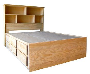 Books Bookshelves Unfinished Furniture Bed Frame With