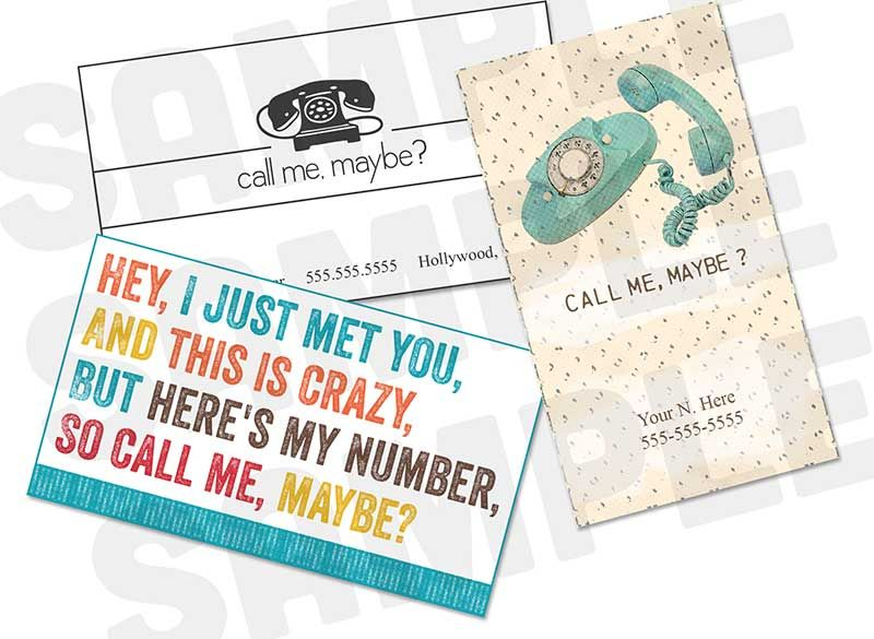 Free Printable So Call Me Maybe Business Cards Call Me Maybe Free Business Cards Cards