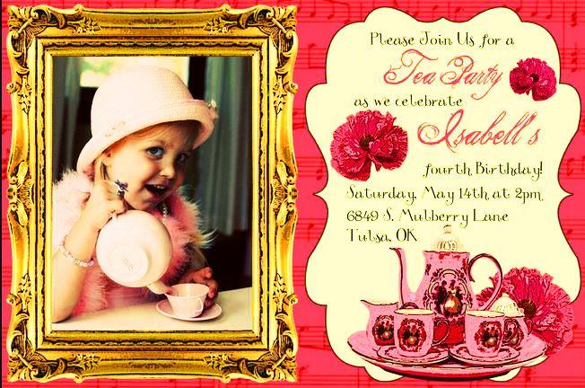 Tea party invite.