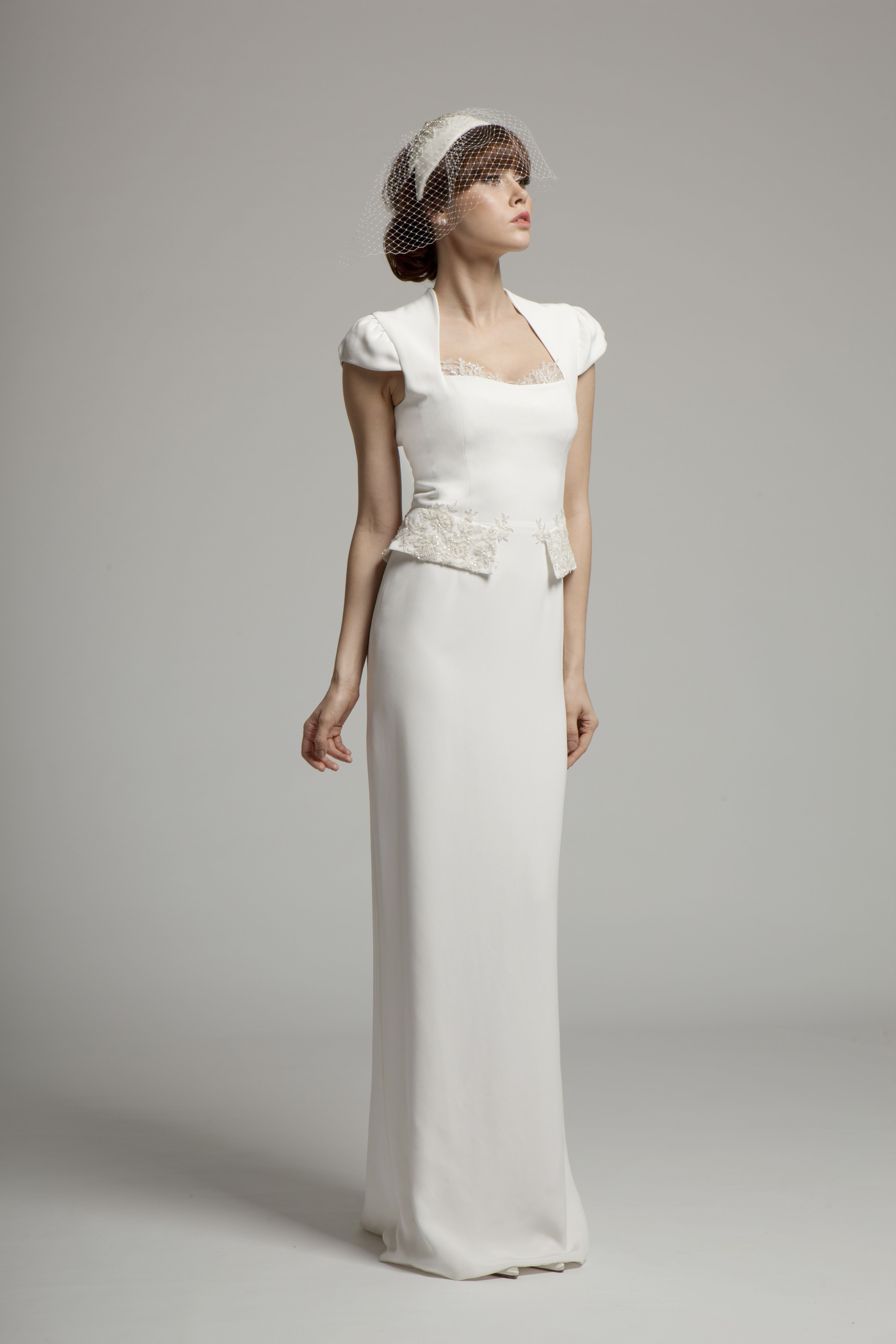 Lena Stylish gown, Wedding dresses, Silk crepe wedding dress