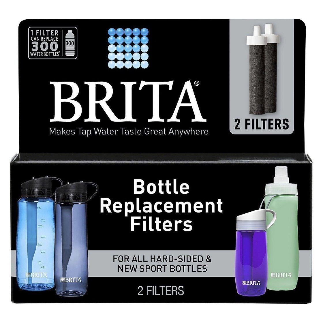 Brita water bottle bpa free filter replacements 2ct