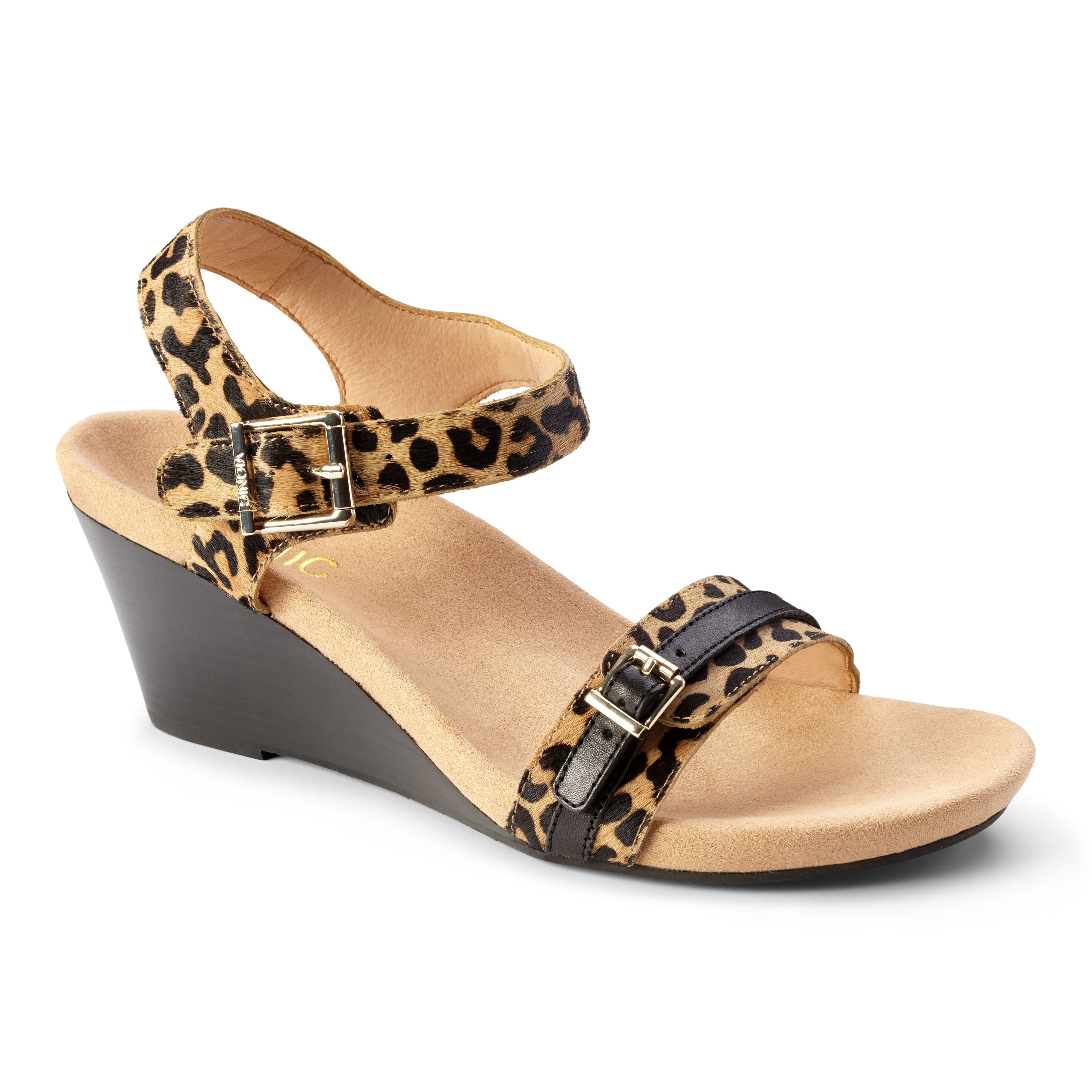 11c10524c465 Vionic Laurie wedge  Buckled straps across the vamp and ankle and a  gorgeous leather-wrapped heel make Laurie the quintessential summer wedge.