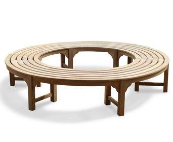 Teak Backless Circular Tree Bench Tree Bench Tree Seat Teak Patio Furniture