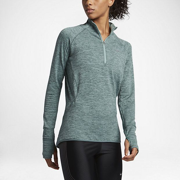 Nike Sphere Element Element Langarm-Laufoberteil mit Halbreißverschluss für Damen