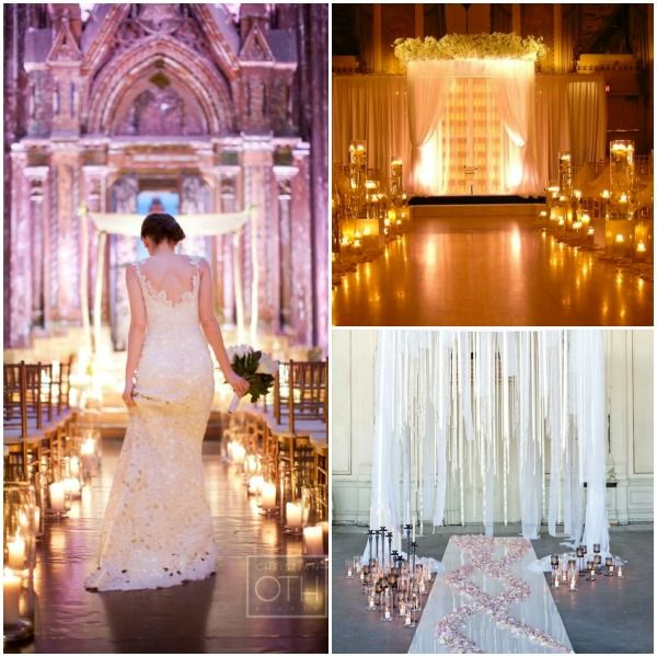 Wedding Ceremony Aisle Decorations Candles Mazelmoments