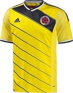 630c94758 ADIDAS COLOMBIA NATIONAL SOCCER TEAM HOME JERSEY FIFA WORLD CUP BRAZIL 2014