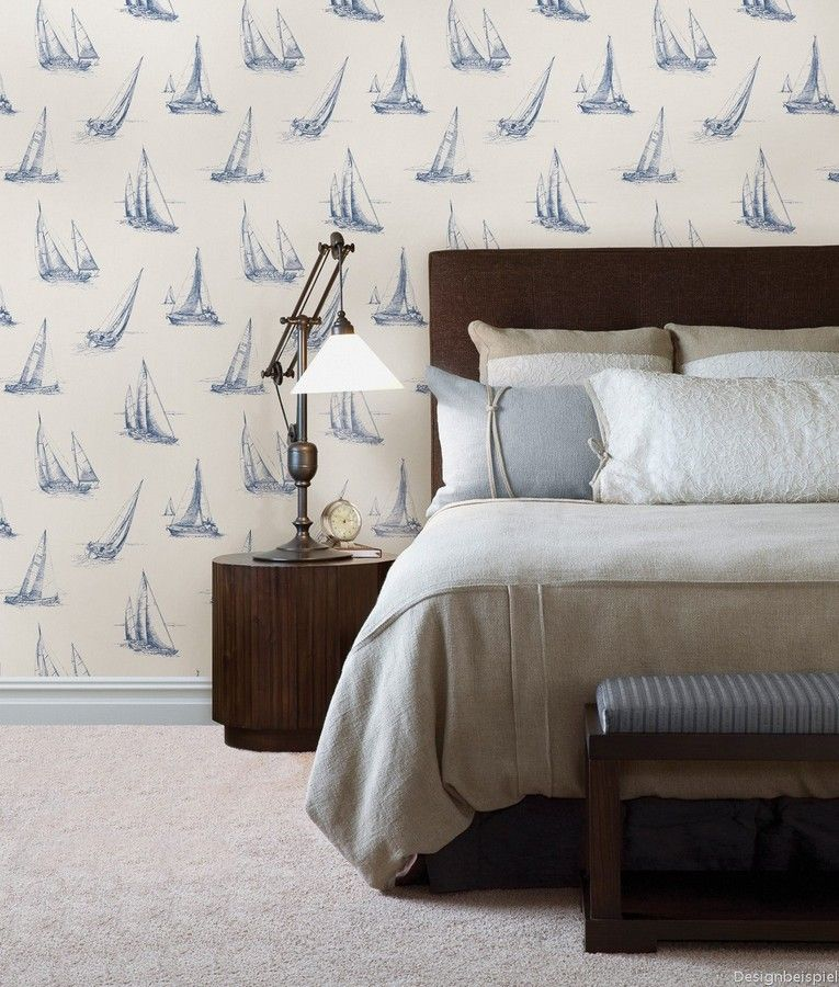Déjate Llevar Por El Apasionante Mundo De La Navegación Y Atrévete A Decorar Con Un Papel Paper Wallpaperbedroom Wallpapertoile Wallpaperwallpaper