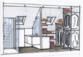Badezimmer und Ankleideraum für Hauptschlafzimmer unter Dach #chambreparentale