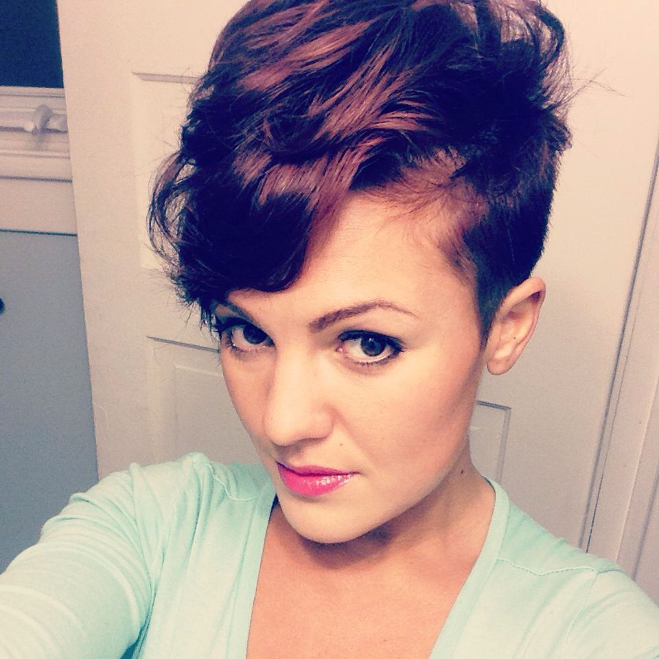 short curly hair shaved side   mohawk for the woman   curly